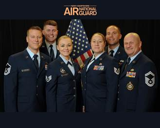 Group photo of the New Hampshire Air National Guard Recruiting team.