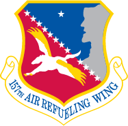 Graphic of the 157th Air Refueling Wing official heraldry
